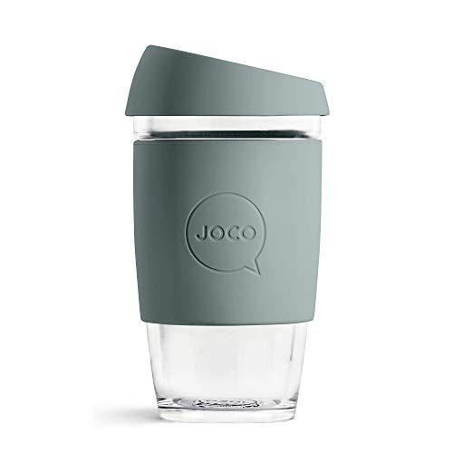 JOCO Glass Reusable Coffee Cup (BlueStone, 16 oz)