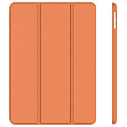 JETech Hülle Kompatibel iPad Air (2013 Modell), Schutzhülle mit Ständer Funktion & Auto Schlaf/Wachen, Papaya