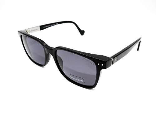 Moncler Unisex-Erwachsene ML0011 01N 54 Sonnenbrille, Schwarz (Nero Lucido/Verde)