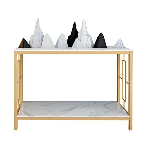 FUFU Mesa Pequeña Mesa De Consola De Corredor, Mesa De Mármol, Gabinete De Consola De Pared, Mesa De Almacenamiento De Metal De Lujo Ligero