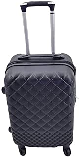 Carry On Luggage 20-inch ABS Expandable Hardside Travel Bag Trolley Suitcase Black