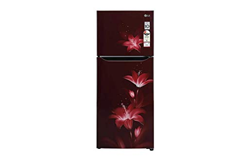 LG 260 L Frost Free Double Door Top Mount 2 Star Refrigerator(RubyGlow, GL-N292BRGY)