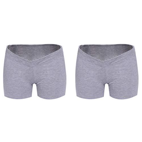 Yuandongxing Calzoncillos de Algodón para Mujeres Ropa Interior de Maternidad con Pantalón Corto Wasit Panties Cortos de...