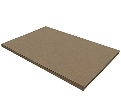 25 Chipboard Sheets 12 x 18 inch - 22pt (Point) Light Weight Brown Kraft Cardboard for Scrapbooking & Picture Frame Backing (.022 Caliper Thick) Paper Board | MagicWater Supply