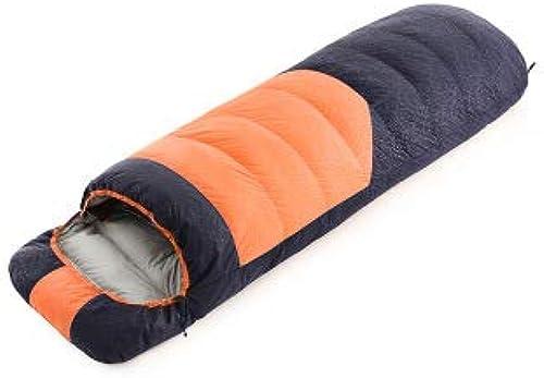 TYX CrossRobeer Chaud en Duvet Ultra léger à Couture Unique - Sac de Couchage léger et imperméable - Idéal pour Les Adultes et Les Enfants - Excellent équipeHommest de Camping,Orange,36  20  20cm