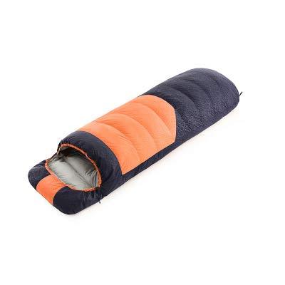 Crossdresser clothing Einfachnaht Ultraleichter Warmer Daunenschlafsack - ideal für Erwachsene und Kinder - hervorragende Campingausrüstung,Orange,38 * 21 * 21cm