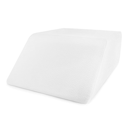 Comfort and Support Memory Foam Elevating Leg Rest Pillow with Washable Pillow Case- Sciatica,...