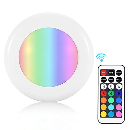 CjnJX-Vases Lámpara LED, 6PCS Luz LED para gabinete, Lámpara de Noche con Sensor de Cuerpo Humano con Control Remoto para armarios y Balcones