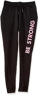 بنطلون رياضي BCS25 مطبوع باستك ورباط بجيوب جانبية للنساء من بيلا كوتون، مقاس M