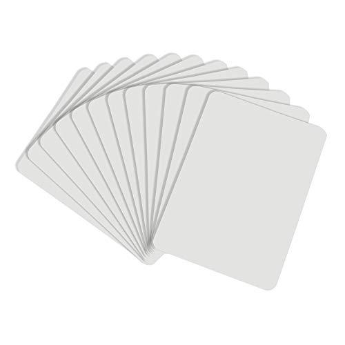 Lapboards de borrado en seco | 12 unidades unidades de mini laptops – 22,86 x 30,48 cm de doble cara pequeñas pizarras blancas para...