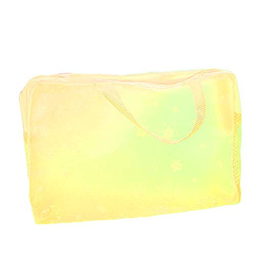 bismarckber Trousse de maquillage pour femme - Sac de rangement étanche et transparent