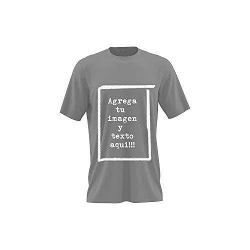 Detalles Creativos Camisetas Personalizables - T-Shirt Personalizadas .Tu Foto ó diseño en una Camiseta (Ash Grey, XXL)