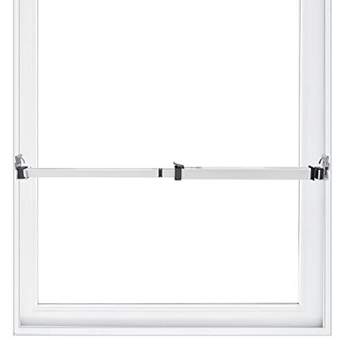 Securityman Window Security Bar - Easy Install for Horizontal/Vertical Windows - Adjustable Window Lock Bar (Child Proof/Heavy Duty Iron) - Extendable (14.25