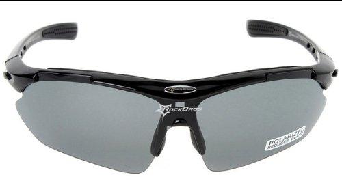 ROCKBROS Gafas de ciclismo, Negro - negro