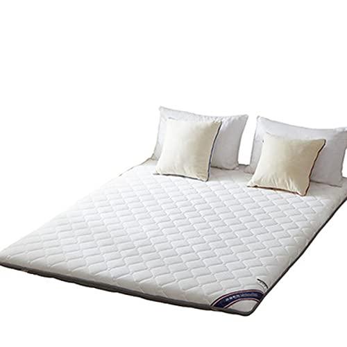 HFAFRZ Materasso Tatami in stile giapponese, portatile, in noce di cocco, materasso pieghevole futon Tatami, colore: bianco, 180 x 200 cm