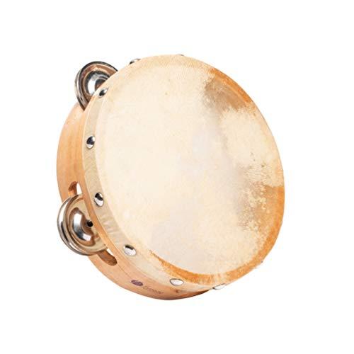 Fuzeau – Tambor de piel natural – Diámetro 15 cm – 8 piezas – aro de madera – Ligero y fácil de manejar, – verdadero instrumento musical adaptado a los niños – Ideal para aprendizaje Rytmico 593