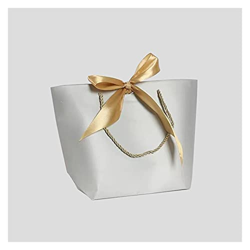 xczbb Caja de Regalo 10pcs Caja de Regalo de tamaño Grande Embalaje de Oro Mango de Papel Bolsas de Regalo de Papel Kraft Papel con Asas de la Fiesta de cumpleaños de la Boda