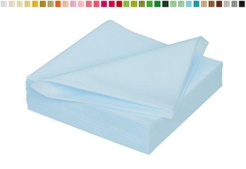 25 stoffähnliche Servietten 40x40cm in Premium Qualität ( hellblau 311 ) // saugstark perfekt für Hochzeit Party Geburtstag