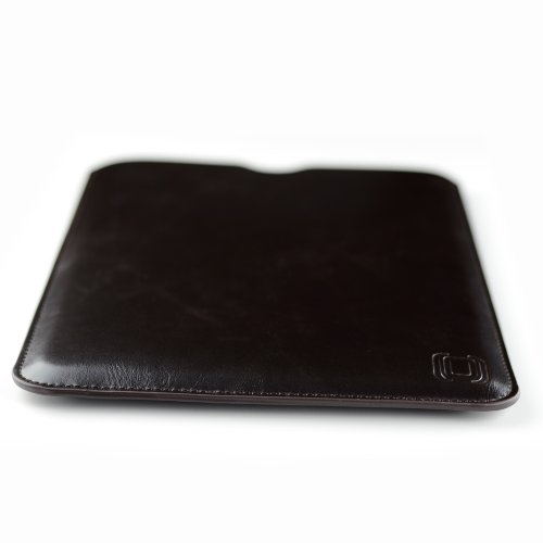 Dockem Nexus 9 Sleeve: Synthetic Leather, Slim, Simple, and Professional Executive Case - Soft Microfiber Felt Lined Dark Brown Faux Leather Protective Tablet Pouch Cover for HTC Google Nexus 9