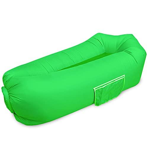 Aufblasbare Sofa, 2021 Wasserdichter Aufblasbare Liege, Luftsofa Luftsack,Tragbares Air Lounger, Luftsack Sitzsack mit Aufbewahrungstasche, Aufblasbare Couch für Outdoor Reisen, Camping, Pool ,Strand