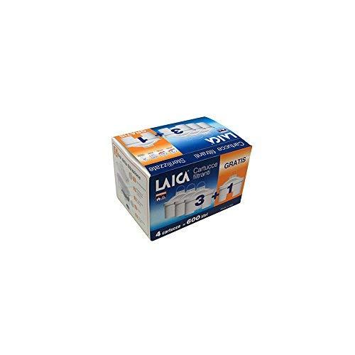 Laica Packung  4 Kartuschen Biflux, Kunststoff, Weiß