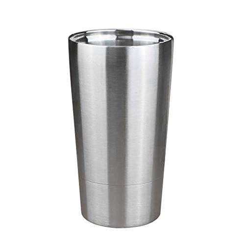 B Blesiya - Taza de licuadora aislada por vacío de acero inoxidable de doble pared para bebidas frías y calientes – irrompible e irrompible