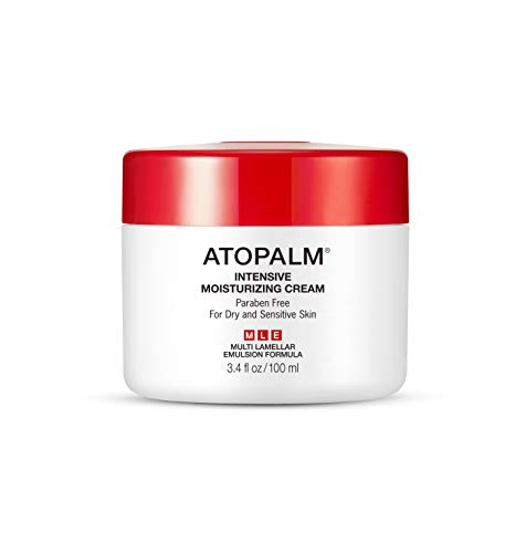 ATOPALM Intensive Moisturizing Cream, Incredibly Rich Moisturizing Cream, Gentle, Replenishes Hydration, Shields Skin Against Damage and Discomfort, MLE Technology, Paraben-Free, 3.4 ounces
