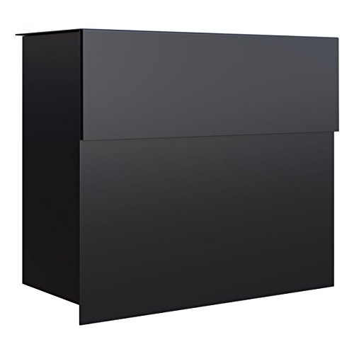 Briefkasten, Design Wandbriefkasten Molto Schwarz - Bravios