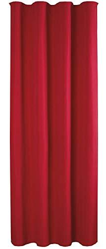 Bestlivings Blickdichte Rote Gardine mit Kräuselband in 140x145 cm (BxL), in vielen Größen und Farben