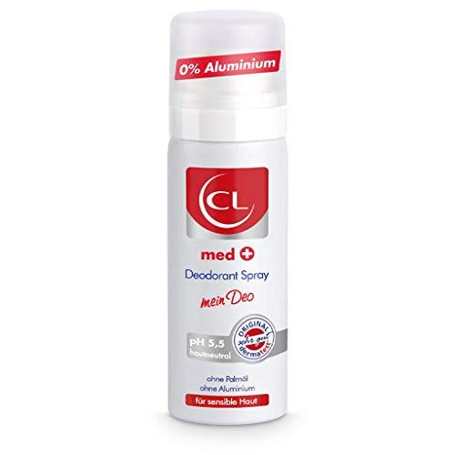 CL med + Deodorant Spray für sensible Haut - 50 ml Deo Spray ph hautneutral ohne Aluminium & Zink bietet aktiven Schutz & sanfte Pflege - Deo Herren & Damen - Deodorant Männer & Frauen
