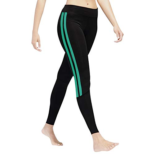 GoVIA Leggins para Damas Pantalones Deportivos Largos para Training Running Yoga Fitness Transpirables con Cintura Alta 4138 Turquesa S/M