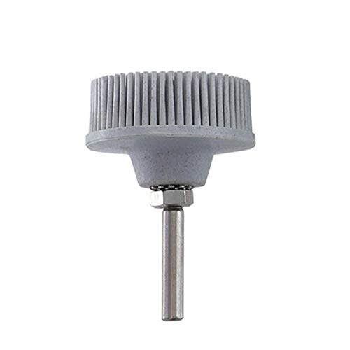 Binchil 2Inch White Polishing Wheels Grit 120 Radial Bristle Disc Emery Rubber Abrasive Brush 1/4Inch 6.35mm Electric Drill Disc Brush Accessories
