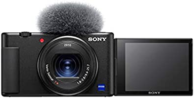 Sony Digital Vlog Camera ZV-1 Only (Compact, Video Eye AF, Flip Screen, in-Built Microphone, 4K Vlogging Camera and...