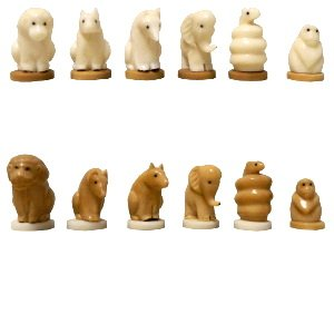 Uni Filter Tagua Organic Ivory Africa Chess Pieces