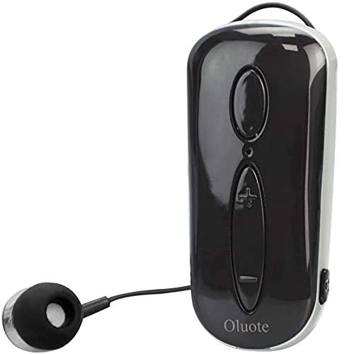 Oluote Auricolare Bluetooth Business, Auricolare Bluetooth Senza Fili con Microfono, Bluetooth V4.1, Vivavoce, 120 Ore di Standby, Compatibile per iPhone Cellulare Android (Nero)