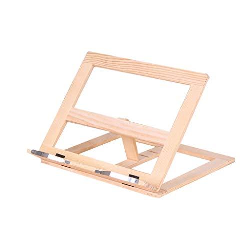GJHK Soporte para ordenador portátil, estante de refrigeración ajustable de madera plegable de almacenamiento multifunción, suministros de oficina medianos