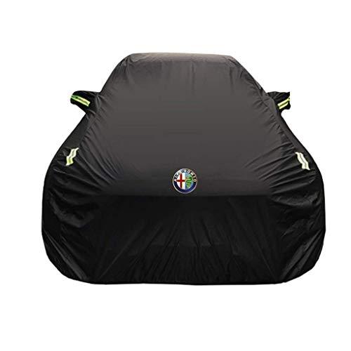 HTTSC Autoabdeckung Alfa Romeo Giulia Sonder Car Cover Car Kleidung Thick Oxford Cloth Sonnenschutz Regen-Abdeckung Auto-Cloth Car Cover (Größe : Oxfordstoff - einlagig)