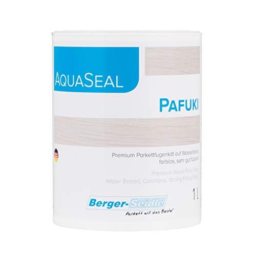 Berger-Seidle Aqua-Seal Pafuki, wasserbasierte Fugenkittlösung zur Selbstherstellung von Holzkitt bzw. Fugenkitt (1 Liter)