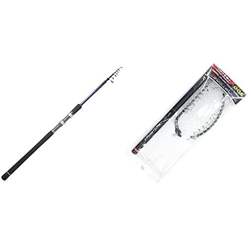 メジャークラフト ジギングロッド 振出 スピニング ソルパラX SPXT-90MH シーバス エギング 釣り竿 & ランディングネット ファーストキャスト ランディングセット4m LS-400FC【セット買い】