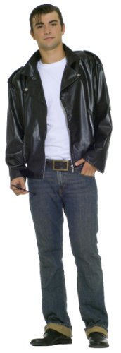 Forum Flirtin With The 50S Greaser Jacket, Black, One Size Costume