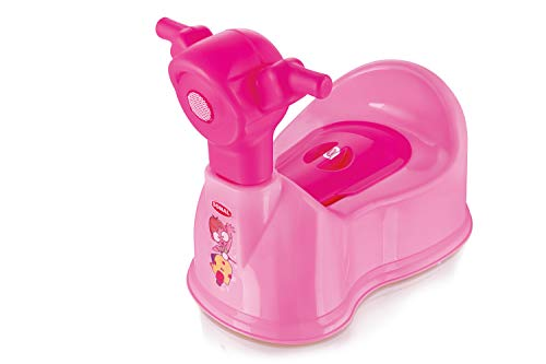 aaKaR Sonal - Baby Scooty - Baby Toilet Trainer Potty Seat with Removable Tray, Lid Cover (Pink) (Pink)