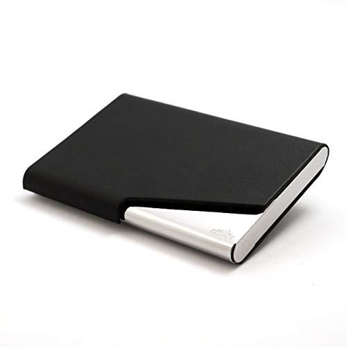 Effilife Porta-Tarjetas da Visita/Tarjeteros para Tarjetas de Credito/Cartera Delgada/Billetera Rigida Hombre, L'indémodable, Negro.