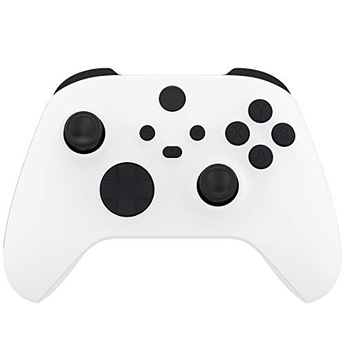 eXtremeRate Tasti Pulsanti Ricambio per Xbox Series X S Controller Joystick Trigger LB RB LT RT Bumper Grilletti D-pad Pulsante Start Back Sync Share con Cacciaviti(Nero)