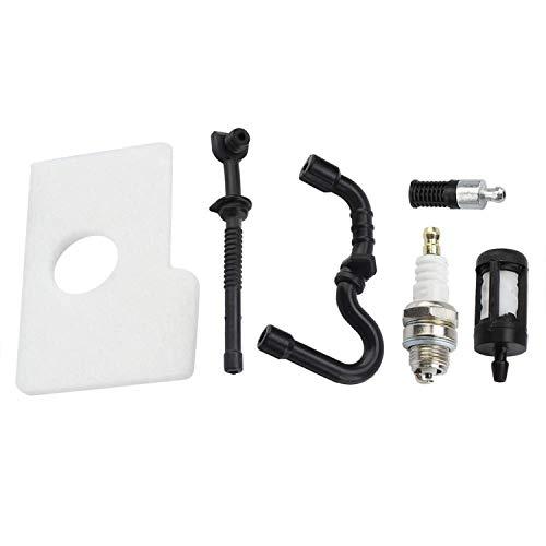 Jeffergarden Aire Combustible Aceite Kit de Filtro y bujía para Motosierra Stihl 017 018 MS170 MS180