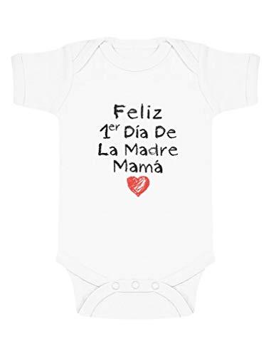 Body de Manga Corta para bebé Original para mamá en el día de la Madre 3-6 Mes Blanco