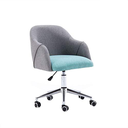 LYLY Silla de oficina para el hogar, oficina, silla de escritorio ergonómica con brazos para sala de conferencias o muebles de oficina, silla de computadora y silla de juegos (color: gris)
