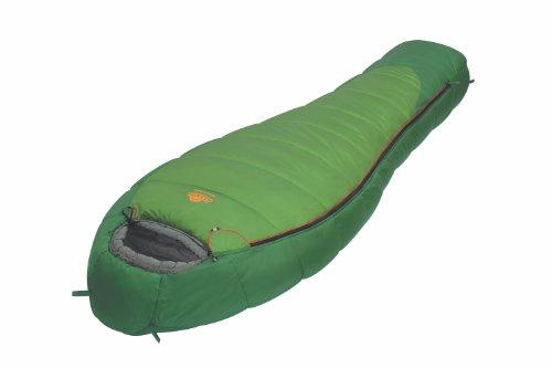 ALEXIKA Unisex-Adult Schlafsack Mountain, rechte Reißverschluss Trekking, grün/grau, 220 x 80 x 55 cm