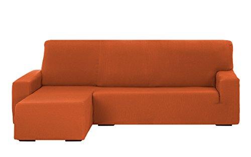 Martina Home Tunez Funda Sofá para Chaise Longue, Diseño Moderno, Tela, Naranja, Brazo izquierdo corto