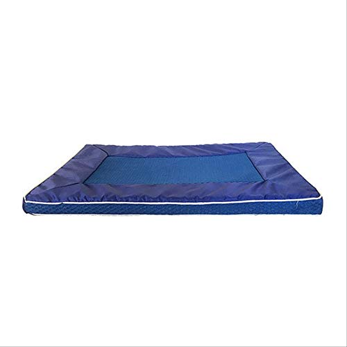 Modsjj Alfombrilla Mascotas Summer Cool Mat Pet Ice Mat Colchoneta Perros Colchoneta Cat Cat Summer Keep Cool Pet Gel Mat Caliente 29X18X1.4 Pulgada Azul-S