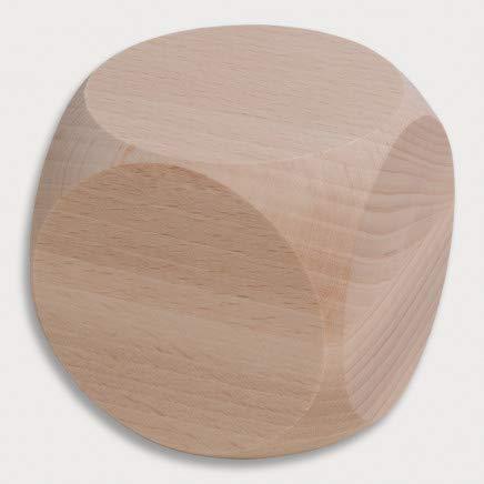 HOFMEISTER® Würfel aus Holz, 6 x 6 cm, für Kinder oder zum Spielen, 100% europäisches Naturprodukt, unbehandelt, aus heimischem Buchen-Holz, ohne Augenzahlen zum selber bemalen
